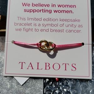 NWT Talbots pink Adjustable bracelet